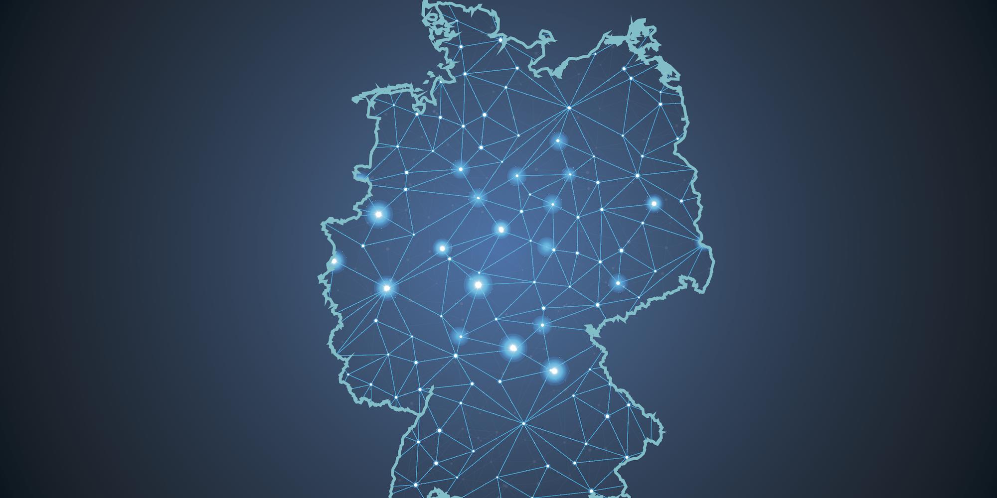 digitale deutschlandkarte Der Standort Deutschland muss dauerhaft in der Top Liga spielen
