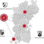 Abbildung 1: Die Designetz-Partner stammen aus Nordrhein-Westfalen, Rheinland-Pfalz und aus dem Saarland.