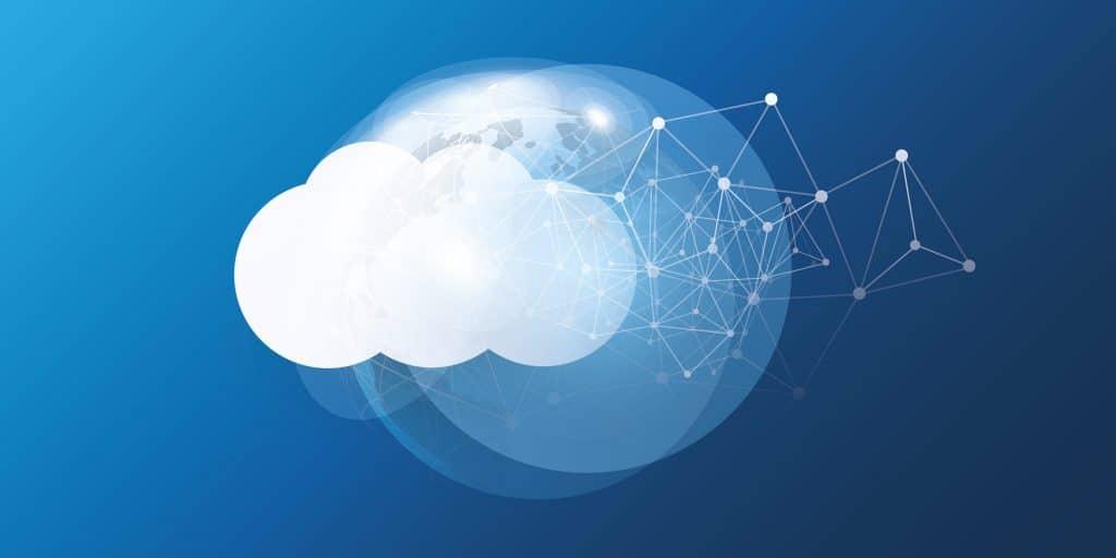 Stilisierte Darstellung der Cloud im Bezug.