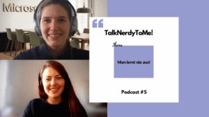 Das Titelbild von TalkNerdyToMe! Podcast #5: Digitales Lernen mit Aileen Goebel