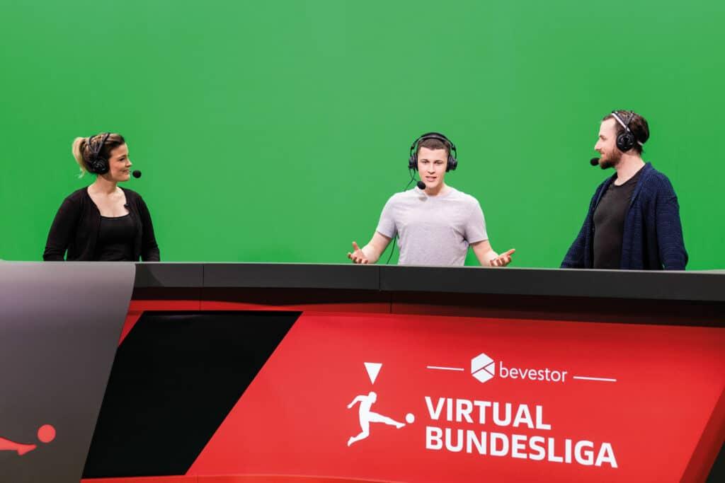 Foto aus dem Fernsehstudio